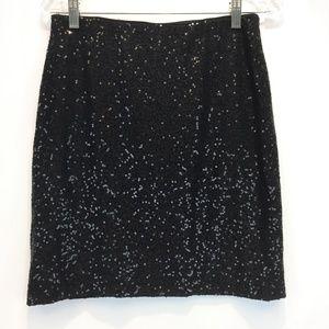 CACHE XS Skirt Stretch Sequin Black